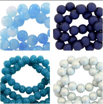 verschiedenfarbige runde Perlen aus Acryl