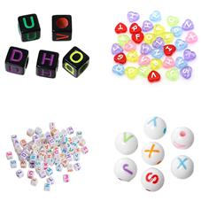 Mixe mit verschiedenen Buchstabenperlen