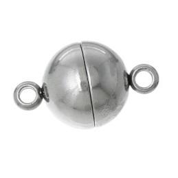 magnetischer Edelstahl Schmuckverschluss in Form einer Perle