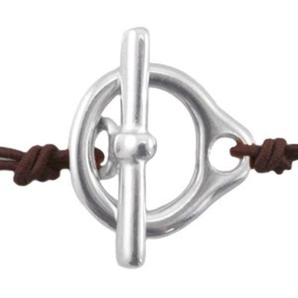 Schmuckverschluss für schmale Lederbänder